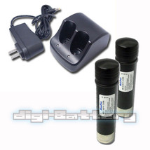 TWO BATTERIES + CHARGER For BLACK & DECKER VersaPak VP110 VP105 VP100 21... - $40.48