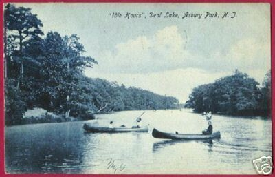 ASBURY PARK NEW JERSEY Deal Lake Canoes NJ 1907