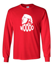 097 Wooo Mens Long Sleeve Shirt nature boy wrestling legend rally cry 80s 90s - $18.00+