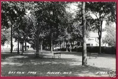 Alpena MI Bay View Park Homes RPPC Postcard BJs