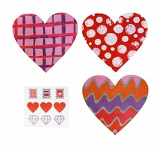 Valentine Day 18 Cards Hand Made Modern Fold A Card Kit Stickers New image 2