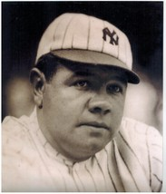 Babe Ruth B New York Yankees Vintage 8X10 Sepia Baseball Memorabilia Photo - $4.99