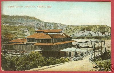 Primary image for OGDEN UTAH Canyon Sanitorium Bldg Bridge Germany PC BJs