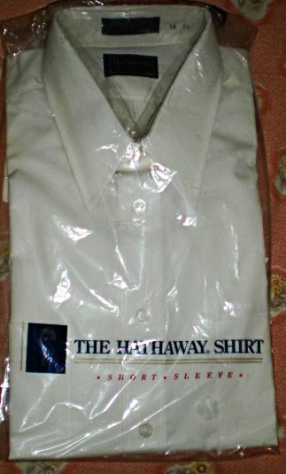 Men's Dress Shirt - The Hathaway Shirt  Neck 16  Short Sleeve