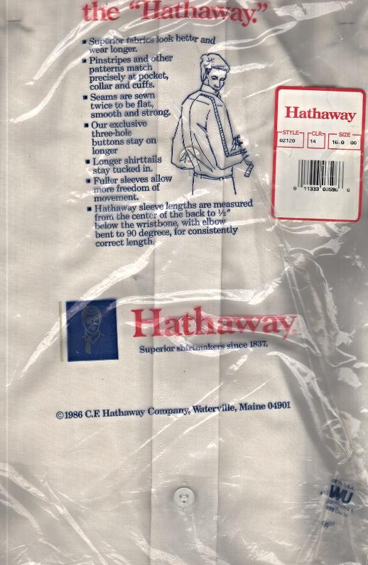 Men's Dress Shirt - The Hathaway Shirt  Neck 16  Short Sleeve image 3