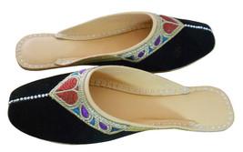 Women Shoes Traditional Handmade Leather Flip-Flops Black Jutties Clogs US 6-9 - $29.99