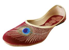 Women Shoes Indian Handmade Mojari Traditional Ballerinas Red Jutti US 5-10 - £20.43 GBP