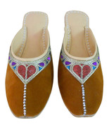 Women Slippers Indian Handmade Leather Brown Traditional Clogs Jutties U... - $24.99