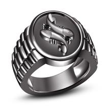 Black Diamond Black Rhodium Plated 925 Sterling Silver Pisces Zodiac Ring - $98.03