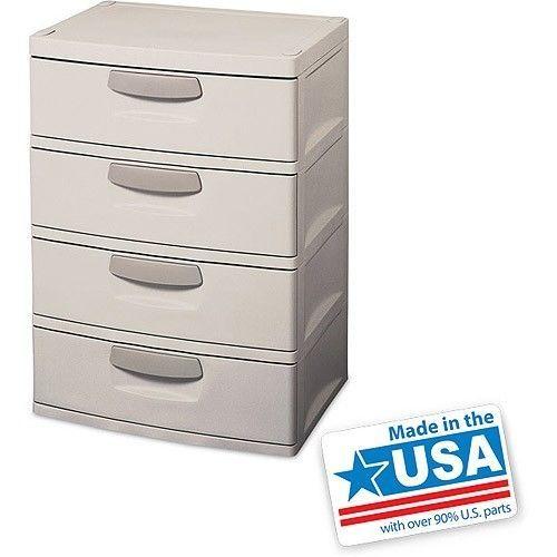 heavy duty plastic storage dresser 4 drawer cabinet dorm bedroom shoe organizer other. Black Bedroom Furniture Sets. Home Design Ideas