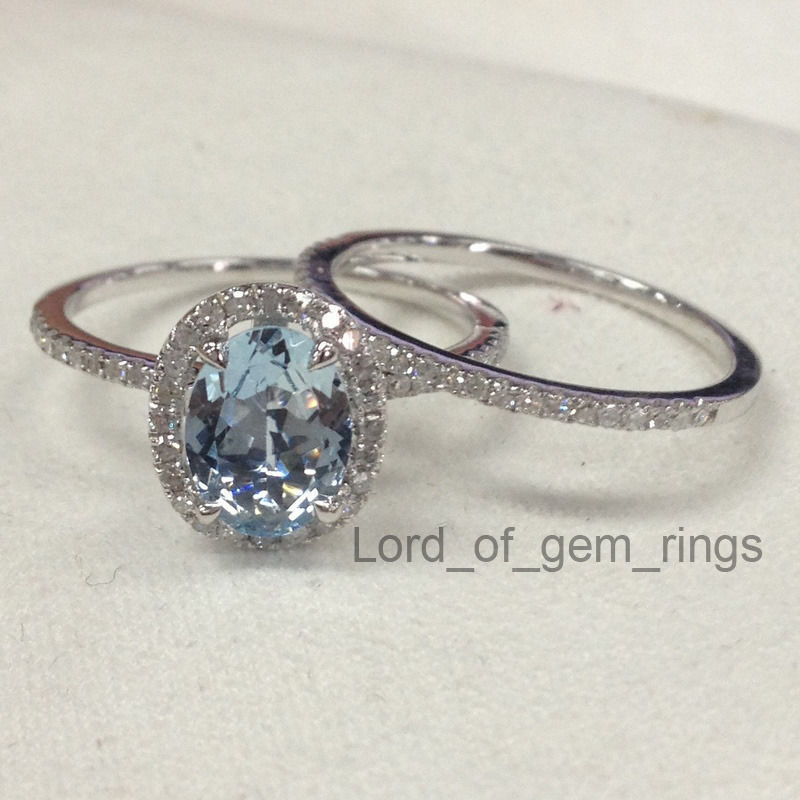 Wedding Ring SetsOval Cut Aquamarine And 50 Similar Items