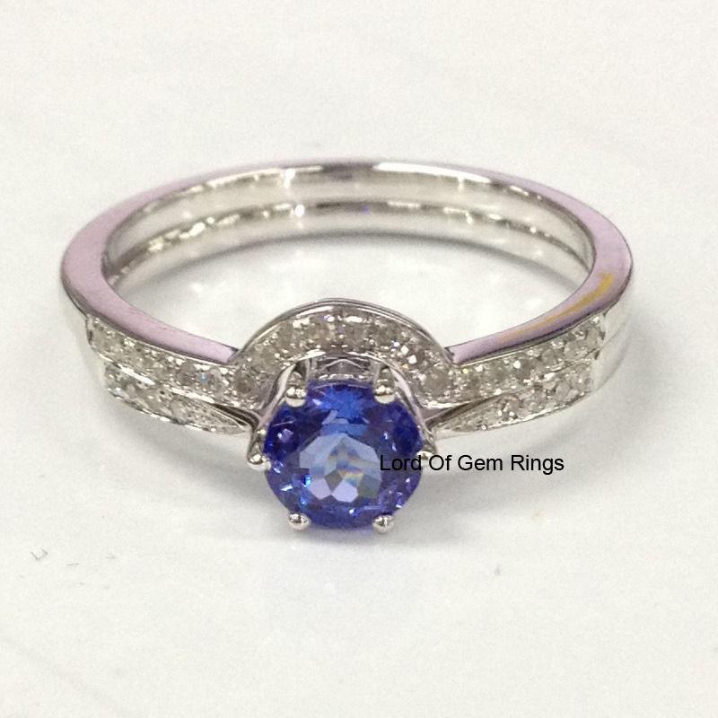 2 Wedding Ring Sets,7mm Round Tanzanite and 50 similar items
