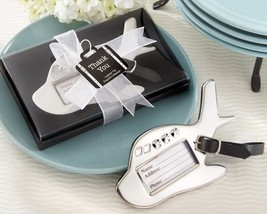 Airplane Plane Luggage Tag Wedding Favors Reception Gift Favor Suitcase ... - $3.94