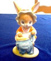 "Lefton China Bunny Ironing #02264 Hand Painted 3.5"" Tall, EUC - $4.50"