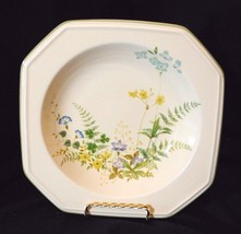 Vintage Mikasa Continental Ivory Rim Soup Bowl In Greenery Pattern, Discontinued - $7.69