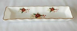 "Royal Albert Poinsettia England Mint Cracker Tray 8 1/8"" Christmas - $29.69"