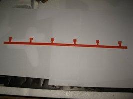"""Vintage 1989 Aurora Devil's Ditch Slot Car Playset piece: 14"""" Orange Guardrail  - $3.00"""