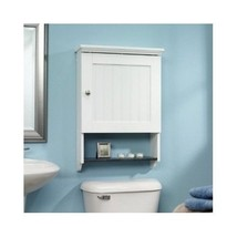 Bathroom Cabinets Bathroom Wall Cabinet Storage Wood Door Shelf Display ... - $119.99