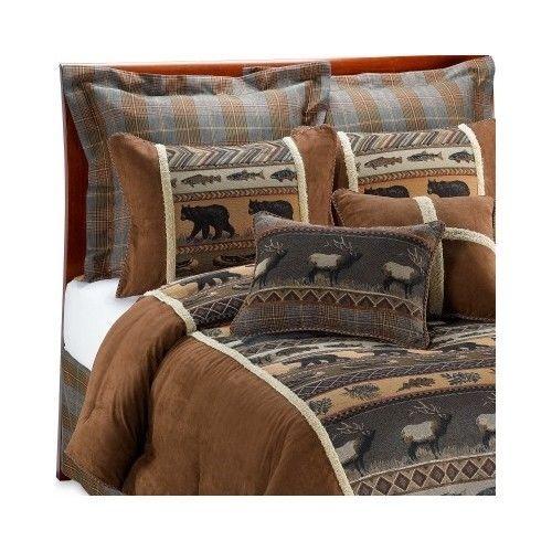 Comforter Sets Queen Rustic Bedroom Bedding Collection Wildlife Multicolor King Bed In A Bag