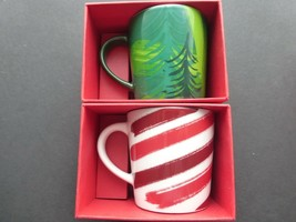 Starbucks Express Coffee Demitasse Cup, Set of 2 NEW Green Trees & Red-W... - $24.74