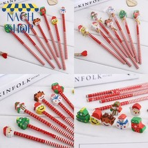 Creative Christmas Stationery 5Pcs/Lot Santa Claus Snowman Tree Pencil W... - $7.47