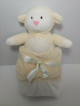 Kids Preferred cream or pale yellow lamb in pocket Baby Security Blanket... - $12.86