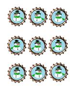 Snowman Bottlecap-Download-ClipArt-ArtClip-Bottle Cap-Digital - $4.00