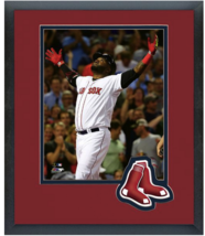 David Ortiz 2015 Boston Red Sox - 11 x 14 Team Logo Matted/Framed Photo - $43.55