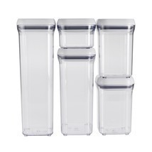Containers Food Storge Airtight OXO Plactic Stacker Good Grips Pop Set - ₨4,233.39 INR