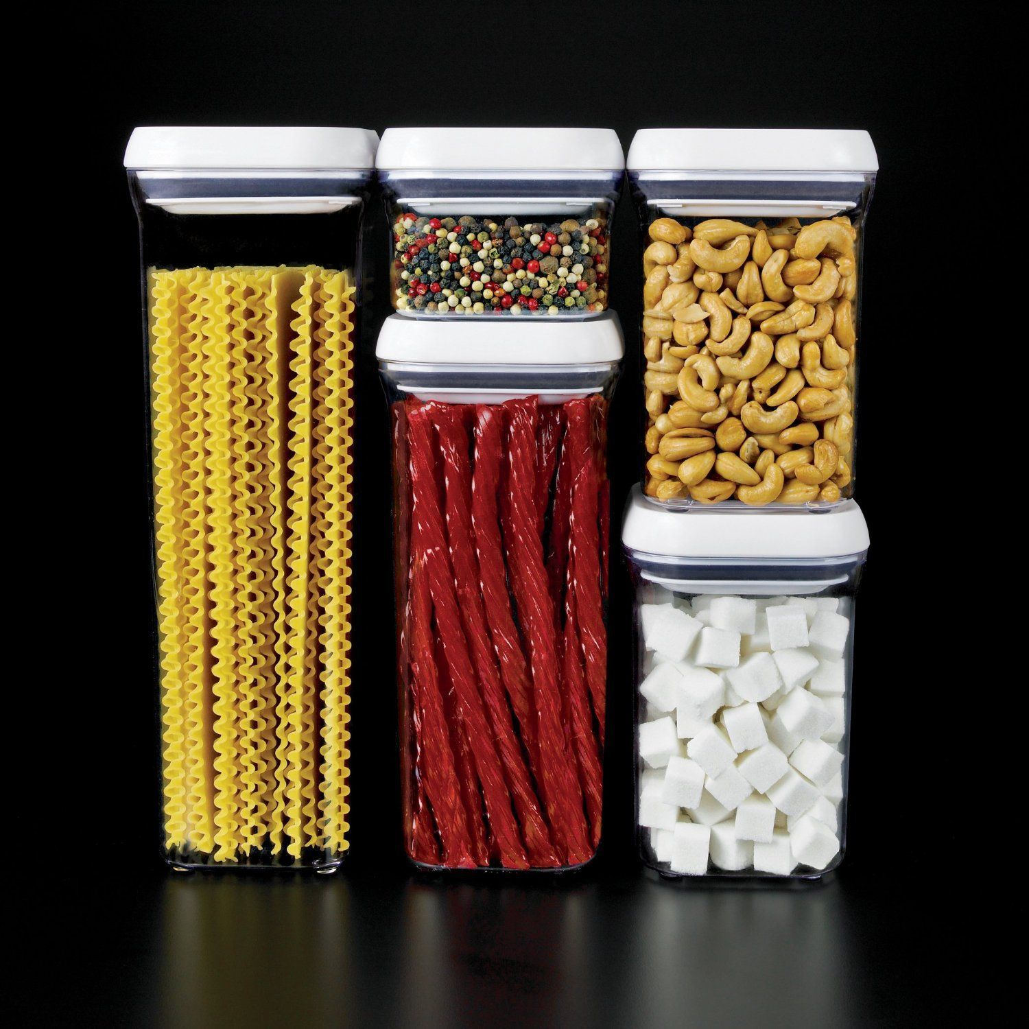 Containers Food Storge Airtight OXO Plactic Stacker Good Grips Pop Set