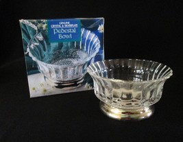 Genuine Crystal and Silverplate Pedestal bowl - $5.95