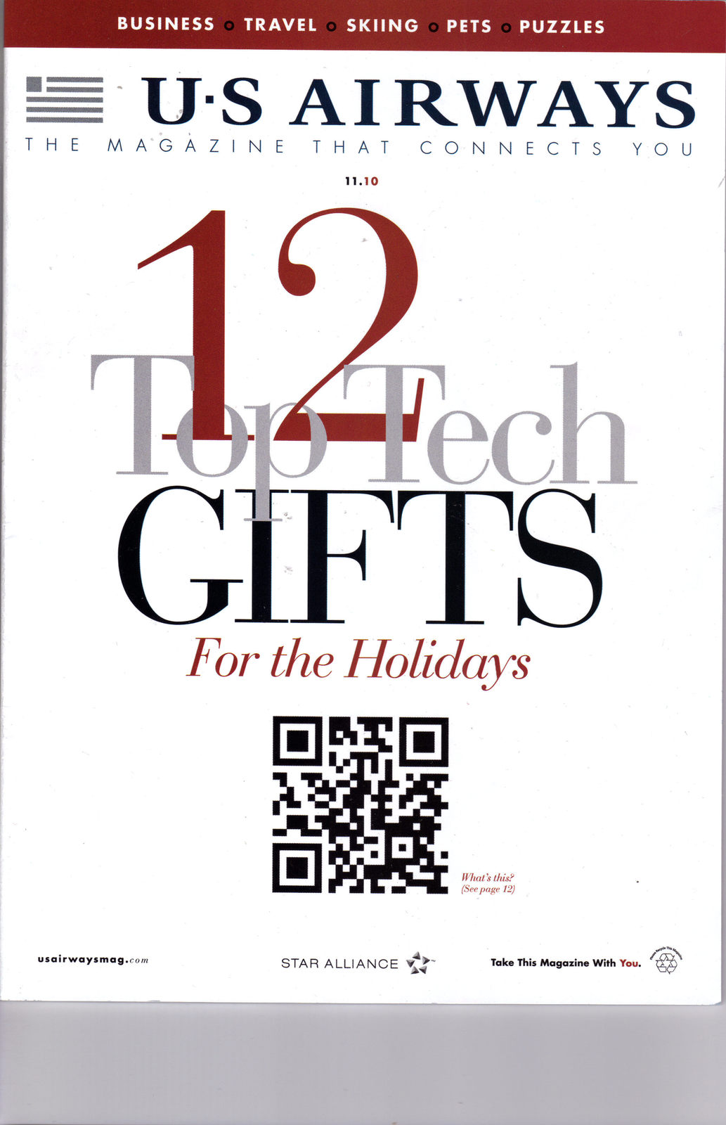 Primary image for US AIRWAYS 12 TOP TECH GIFTS FOR THE HOLIDAYS 11.10