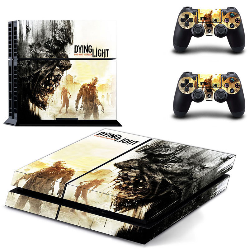 Dying light new design ps4 console skin sticker decal made for Housse manette ps4