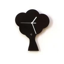 Tree - black acrylic wall clock, silhouette clock, beautiful wall decor - $39.00
