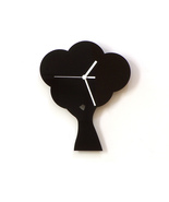 Tree - black acrylic wall clock, silhouette clock, beautiful wall decor - $39.00