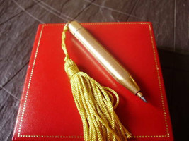 Mechanical pencil pen laminated gold Pendent charm Original 1940s - $29.00