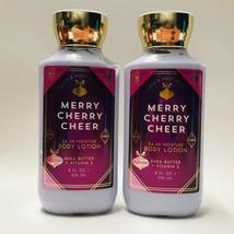 2 Bath & Body Works Merry Cherry Cheer Body Lotion 8 fl.oz Holiday Tradi... - $19.75