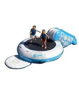 Water Trampoline Bouncer Sports 5' Platform Jump w/ Splash Slide & Ancho... - $367.65