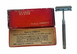 Christy Razor Enders Blade vtg original box barber advertising Fremont O... - $29.65