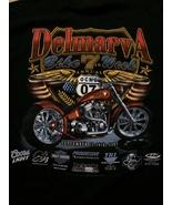 Delmarva Ocean City Maryland Bike Week Cool Black T-Shirt Sz XL  Great P... - $15.98