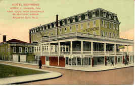 Hotel Richmond Atlantic City vintage 1916 Post Card - $6.00
