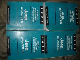2001 JEEP WRANGLER Service Shop Repair Manual Set W Diagnostics Procedur... - $188.09