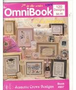 Omnibook of Celebrations Cross Stitch Patterns 7th Series Jeannette Crews Design - $15.00