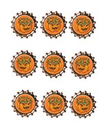 Pumpkin Bottlecap6-Download-ClipArt-ArtClip-Bottle Cap-Digital - $4.00