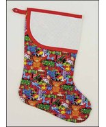 Christmas Toys Large Christmas Stocking pre-finished cross stitch stocking - $26.50