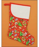 Red Cat Dog Large Christmas Stocking pre-finish... - $26.50
