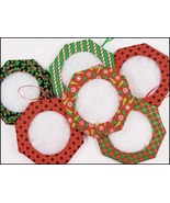 "Christmas Tuck Ornament 2"" - set 6 assorted han... - $19.35"