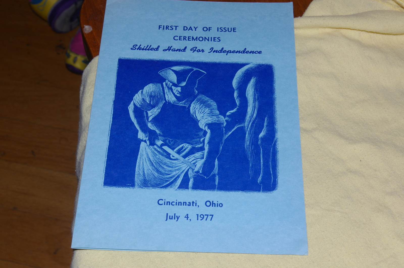 1977 Skilled Hand For Independence First Day Of Issue Ceremony Program