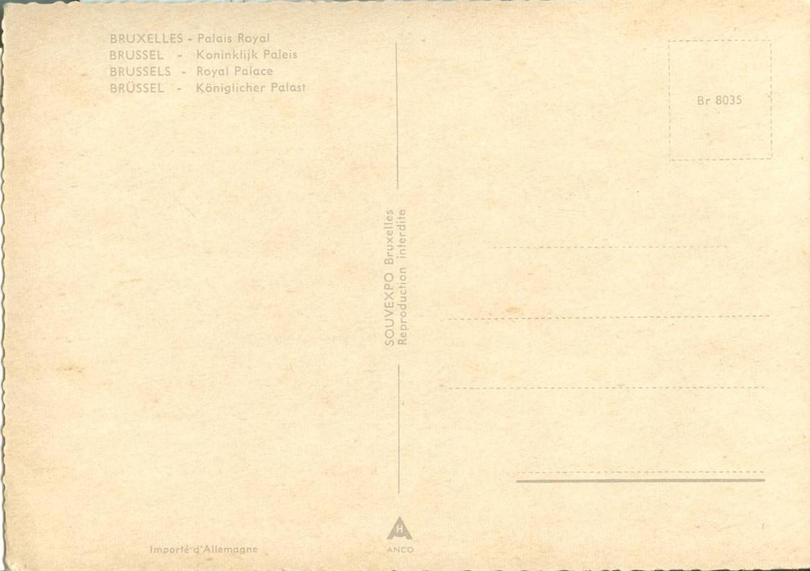 Belgium, Bruxelles, Palais Royal, Brussels, Royal Palace, unused Postcard