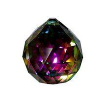 Magnificent 50mm Prism Faceted Vitrail Crystal Ball Feng Shui Rainbow Maker - $26.85